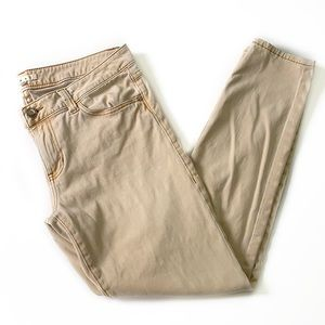 CAbi • Gold Ruby Khaki Skinny Jeans 502